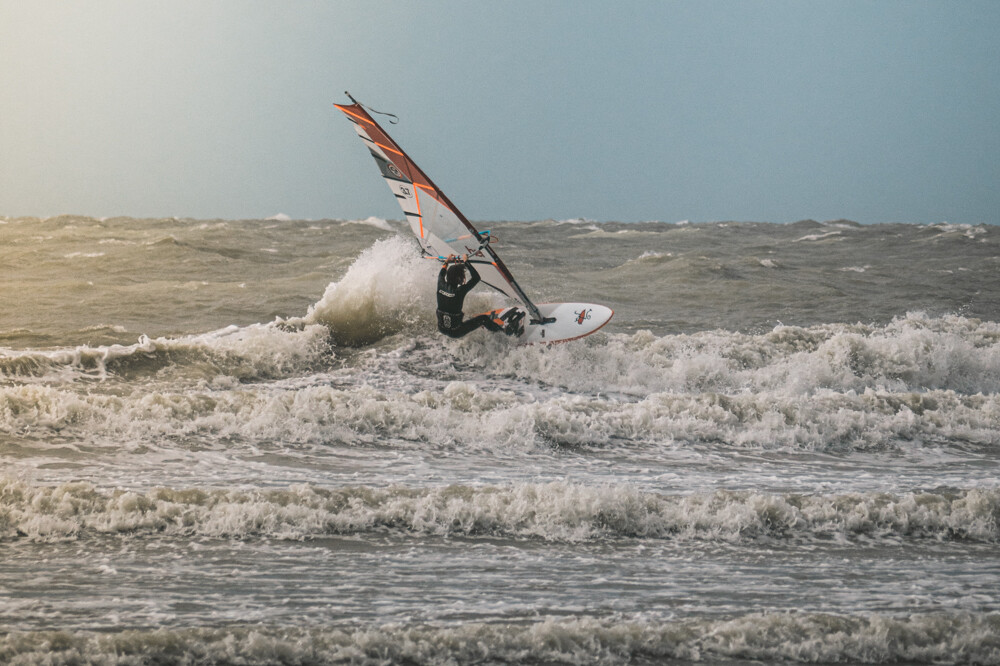 North Sea Windsurfing in Bredene, Oostende