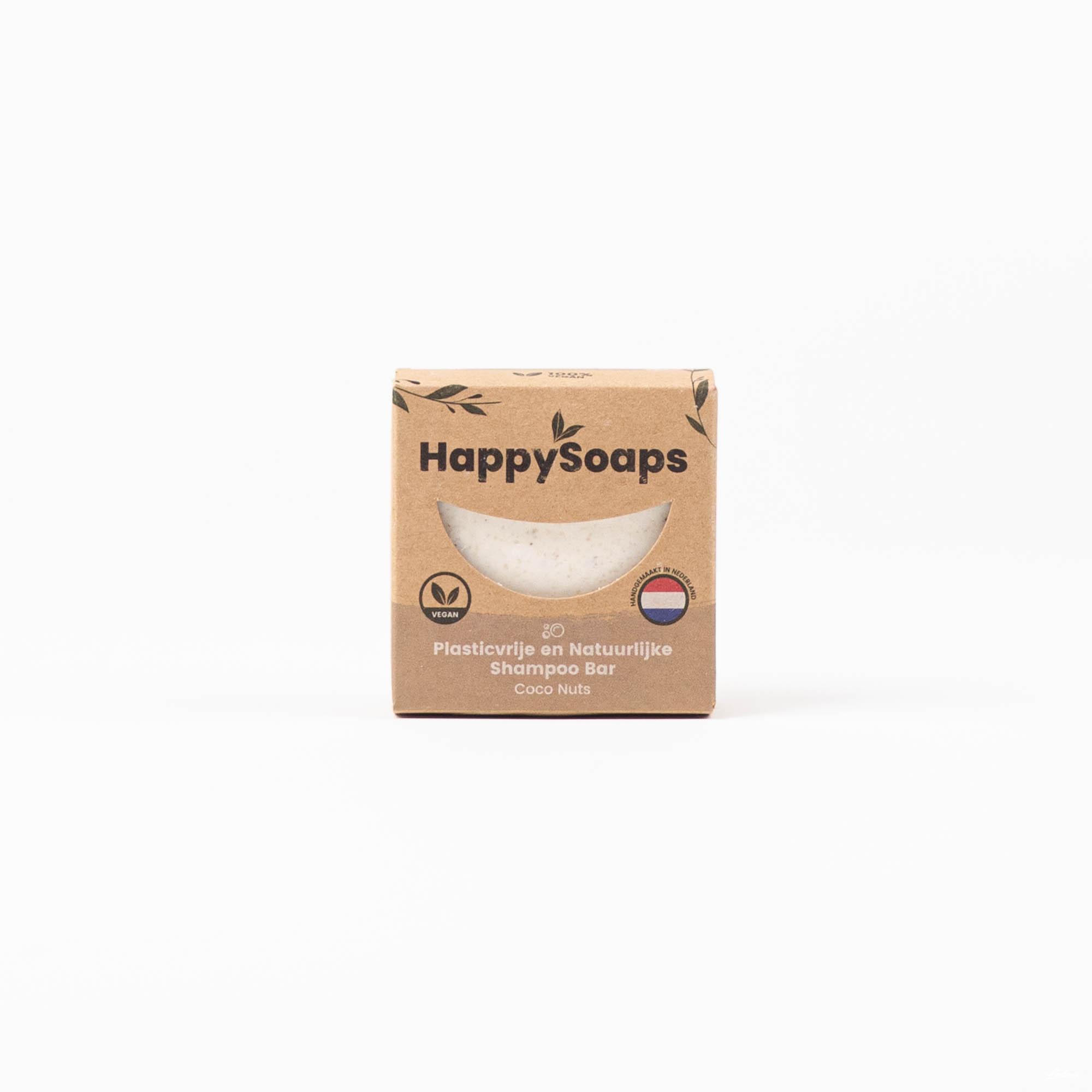 Happysoaps Coco Nuts Shampoo Bar steeds aan de beste prijzen bij Wave Thirteen!
