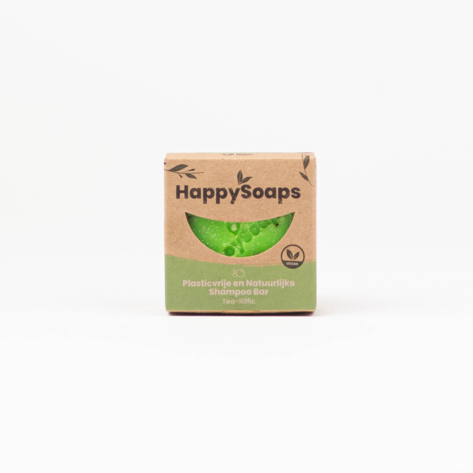 Happysoaps Shampoo Bars Tea-Riffic steeds aan de besten prijzen bij Wave Thirteen!