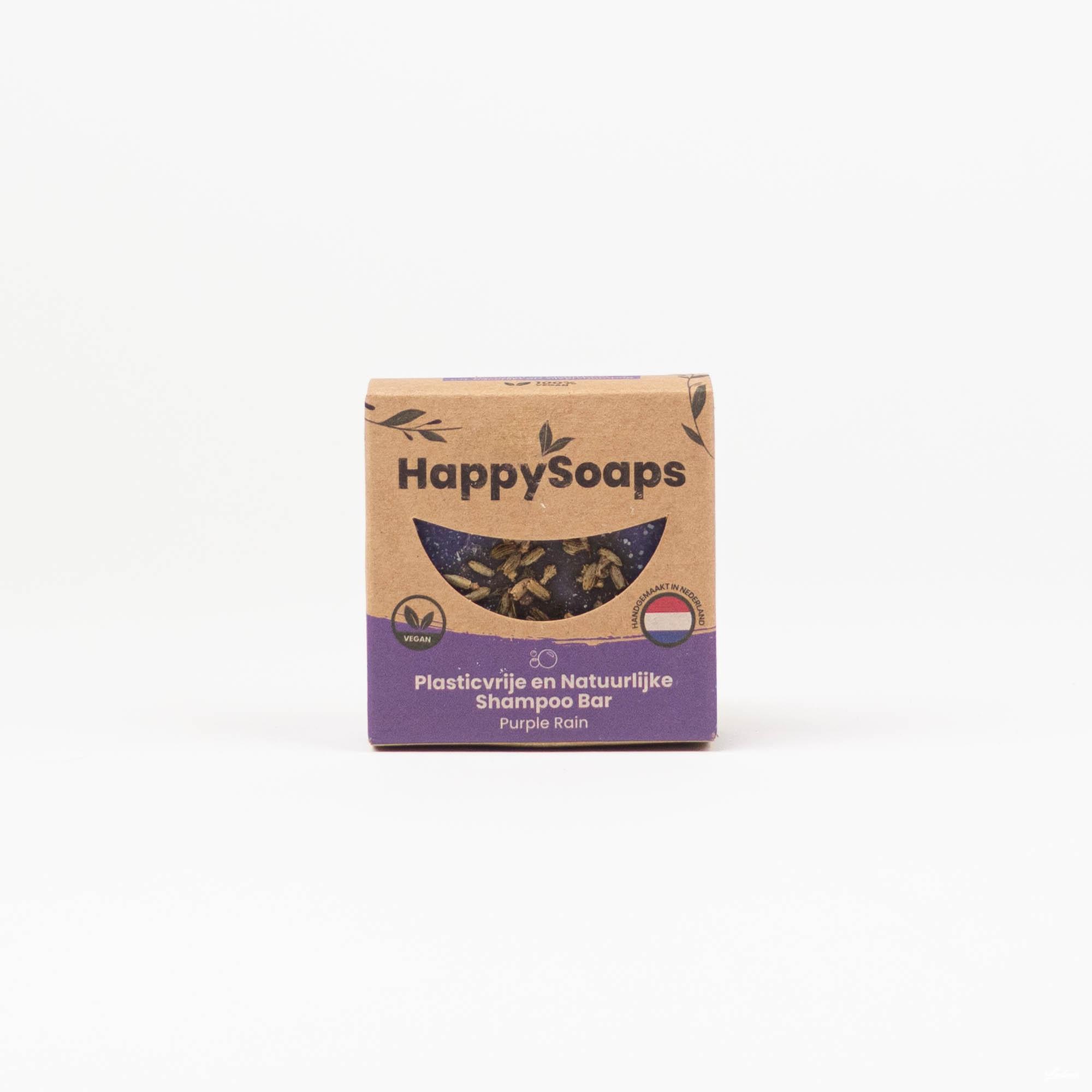 Happysoaps Purple Rain Shampoo Bar steeds aan de beste prijzen bij Wave Thirteen!